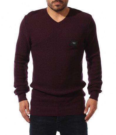 Стилен пуловер с лого 10607