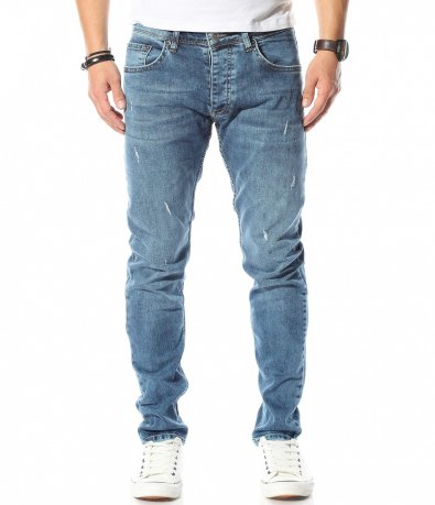 Сини джинси с кръпки Red Point 10656