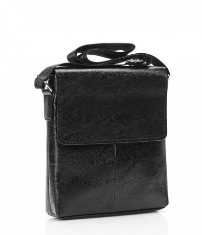 Традиционна черна чанта през рамо 10667