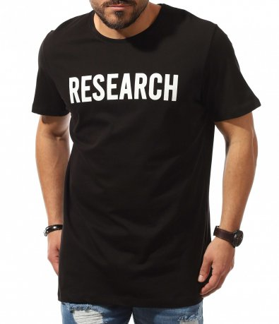 Традиционна тениска с бял надпис 10690