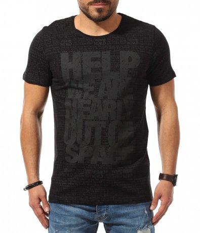 Клубна тениска с щур принт 10693