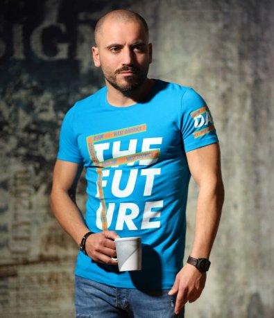Ежедневна тениска с голяма щампа 10698