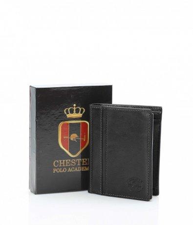 Черен портфейл във вертикална форма 10725