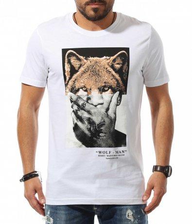 Tricou de vară cu imprimeu avangardist 10790