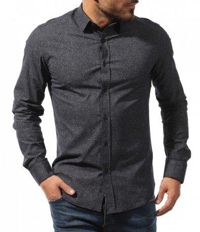 Елегантна риза с флорални мотиви 10731