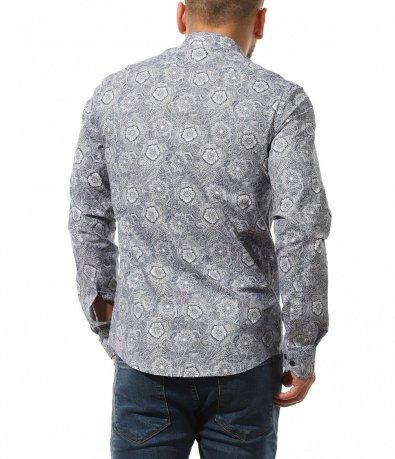 Елегантна риза с ефектни  мотиви 10732