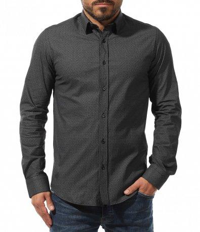 Тъмна класическа риза 10736