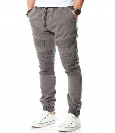 Панталон с набразден ефект на колената 10751