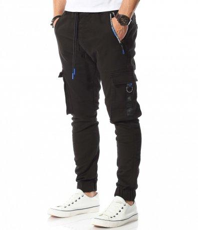 Интересен карго панталон с цветни елементи 10752