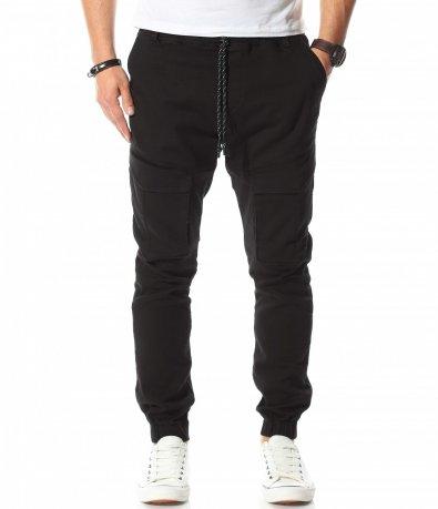 Карго панталон с предни джобове и връзки 10754