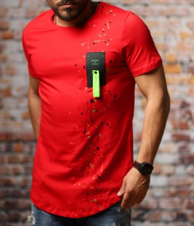 Клубен t-shirt с пръски 10776