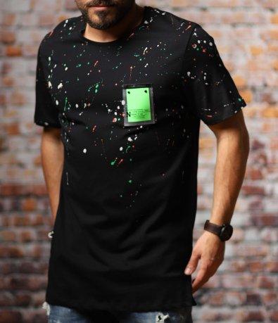 Тениска в големи размери с пръски 10780