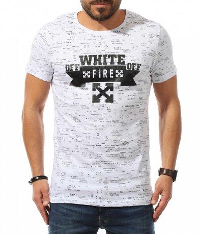 Ежедневна тениска с надписи 10783