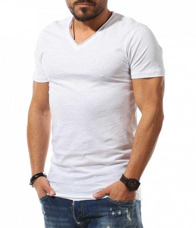 Basic тениска с бод деколте 10788