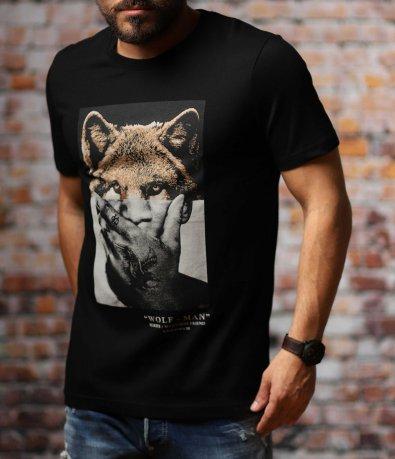 Лятна тениска с авангардна щампа 10790