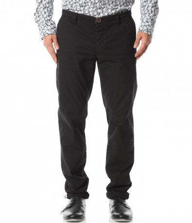 Спортно - елегантен панталон в черен цвят 10793