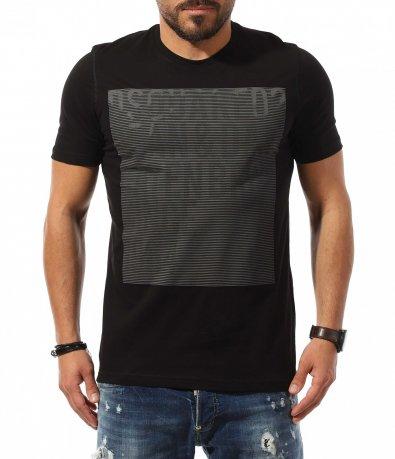 Черна клубна тениска с щампа DSQUARED 10801
