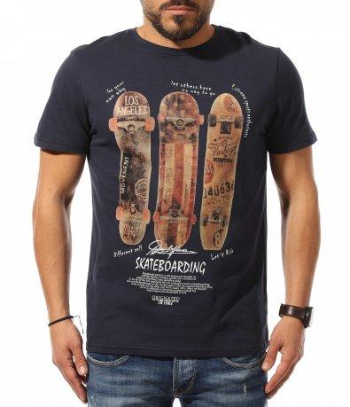 Свежа тениска с апликация 10875
