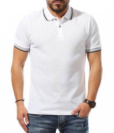 Polo тениска в изчитен десен 10878