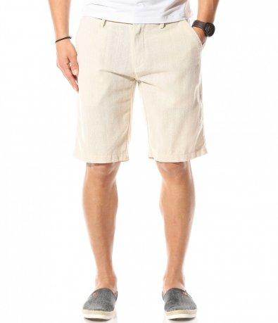 Къси панталони в светъл нюанс 10872
