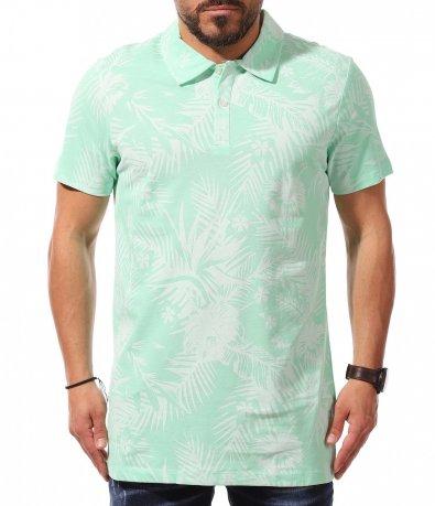 Поло тениска в светло зелен цвят 10948