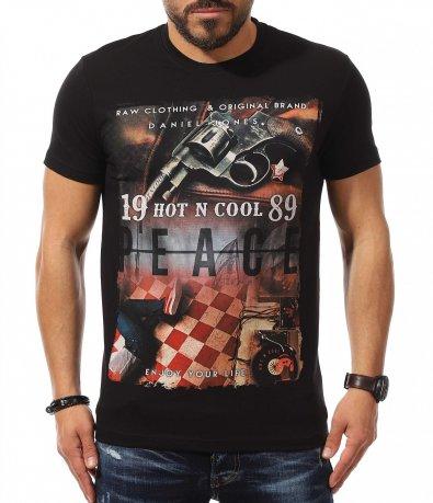 Черен t-shirt с апликация 10888