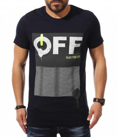 Тениска с неонов акцент 10893