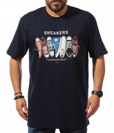 Синя тениска със свеж акцент 10898