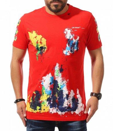 Ефектна тениска с декорация 10803