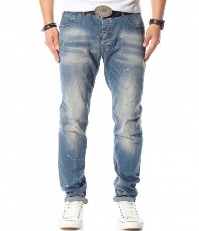 Сини дънки в големи размери 10910