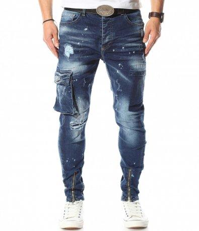 Екстравагантни дънки със странични джобове 10914