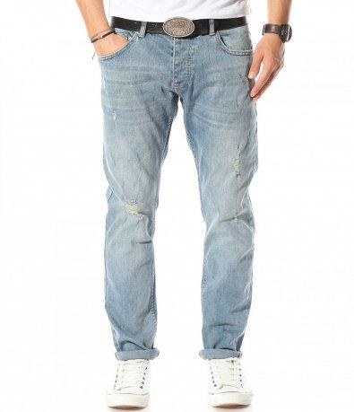 Сини дънки със сив отенък 10916
