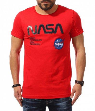 Ярко червена тениска NASA 10922
