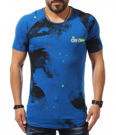 LongFit тениска с надпис On Off 10955