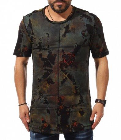 Тениска с издължен силует 10956