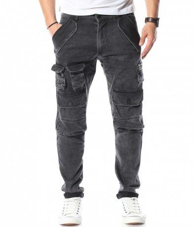 Черни дънки със джобове 10958