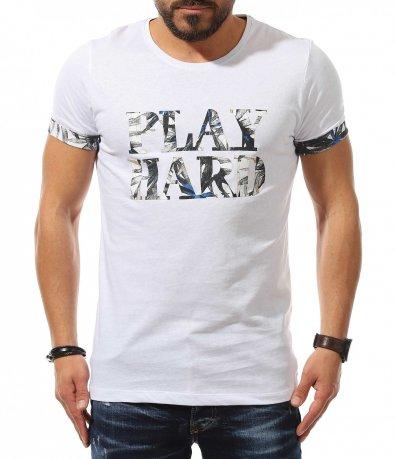 Лятна тениска с флорален кант 10975