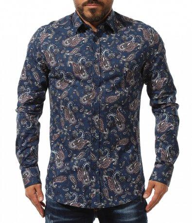 Тъмно синя риза с орнаменти 10979