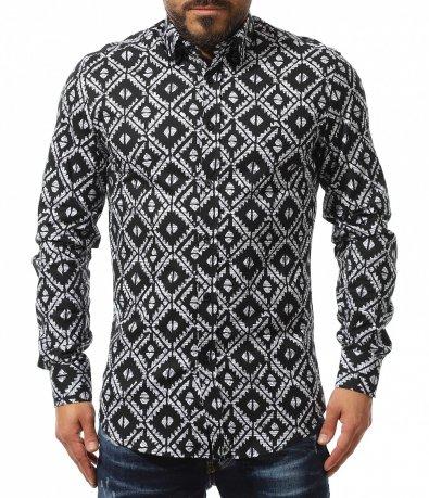 Вечерна риза с принт 10980