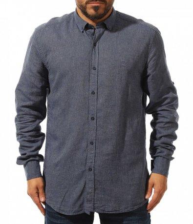 ленена риза с дълъг ръкав 10985