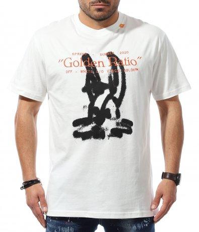 Тениска с излъжена кройка OFF WHITE 10997