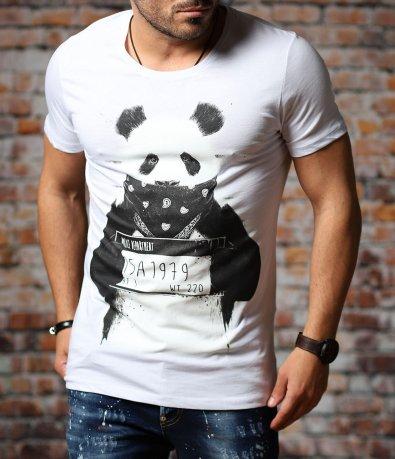 Тениска с апликация с панда 10994