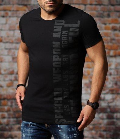 Тениска със семпъл надпис 11002