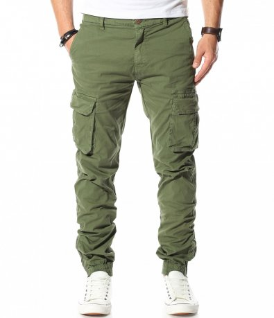 Карго панталон в цвят Army green 11013