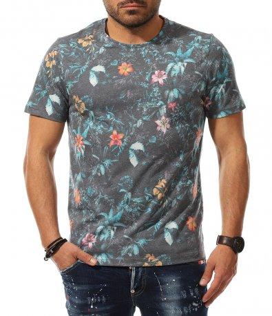 Тениска със свеж флорален мотив 11019