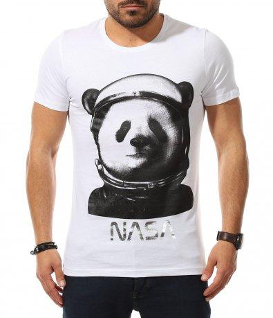 Тениска с щура апликация в два цвята 11023