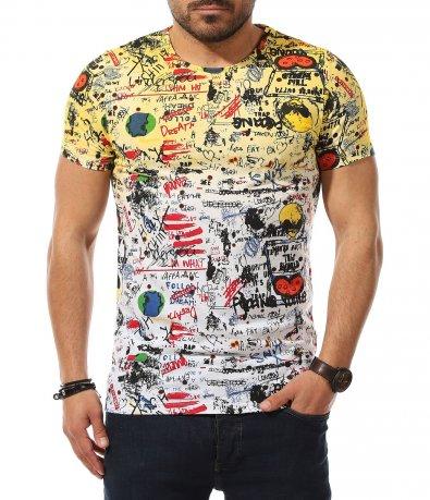 Забавна тениска с омбре ефект 11026