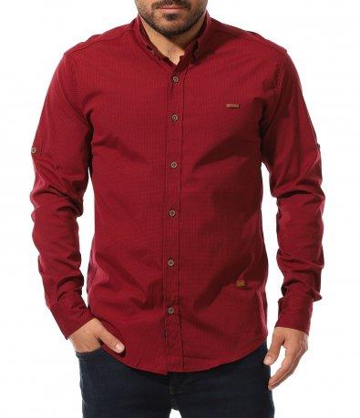 Риза с вталена кройка в големи размери 11031
