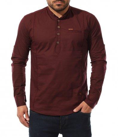 Риза с половин закопчаване 11032