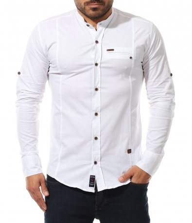 Традиционна риза с вталена кройка 11027